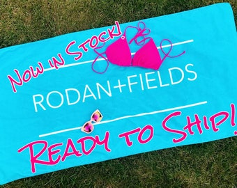 "Rodan and Fields Towel Team Gift beach towel - RF Gift - R+F towel 30""x60"" In Stock and ready to ship!"