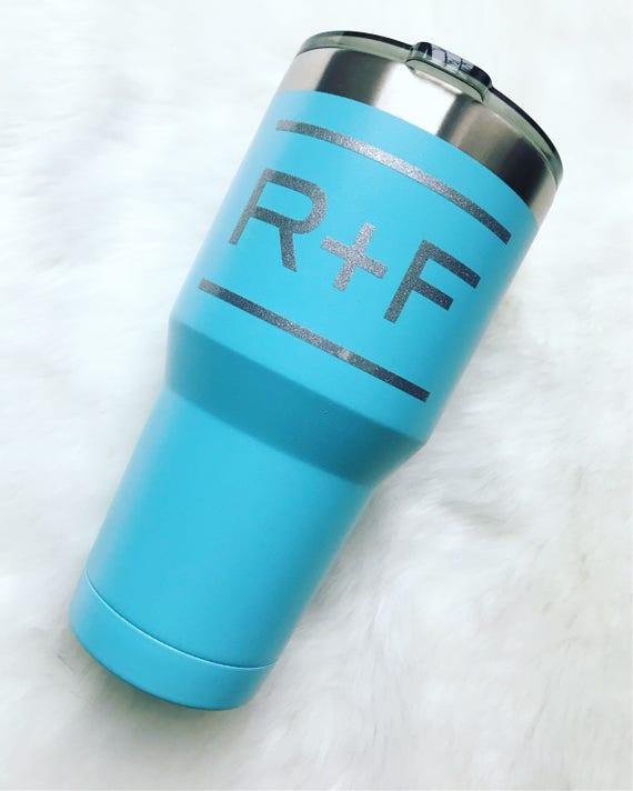 84d95f52ab620 Rodan Fields RF Yeti like Tumbler Drink cup team gift 30oz Vinyl Ready to  Ship Gift custom personalzed