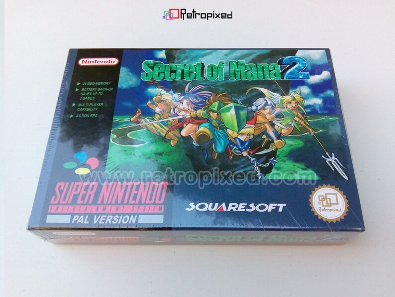 Secret of Mana 2 PAL Complete in Box SNES Reproduction