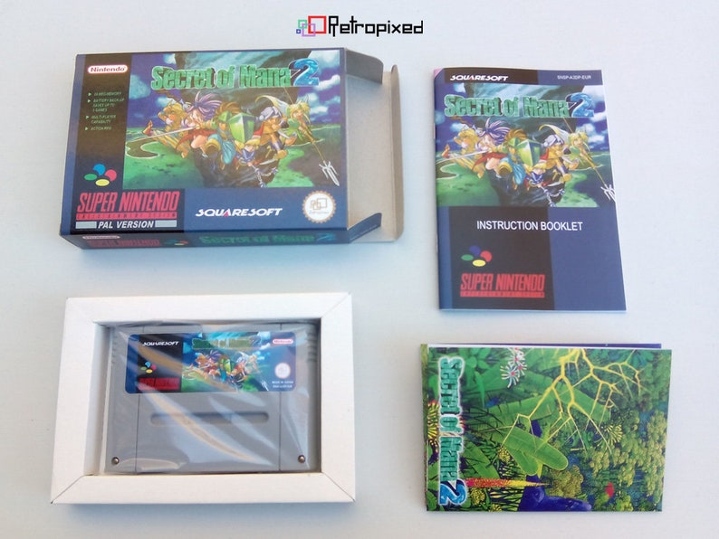Complete in Box SNES Reproduction PAL Secret of Mana 2