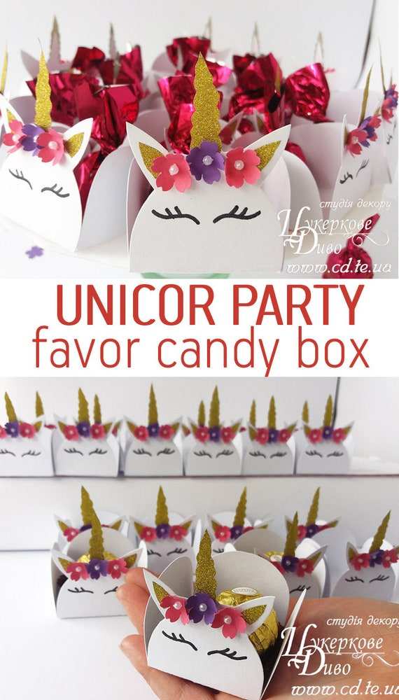 Set Of 10 Candy Box Unicorn Party Gift Baby Shower Decoration Girl Small Cups Birthday Table Decor Gold