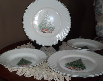 Noel Porcelle from the house of salem china bowl and plates awr id 2 bowls and 3 plates Church box 8