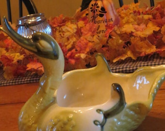 HULL SWAN Planter or candy dish swan