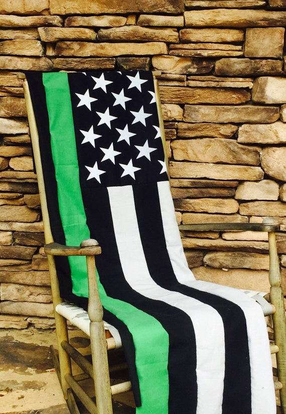 Thin Blue Line American Flag Quilt Police Officer Thin Etsy