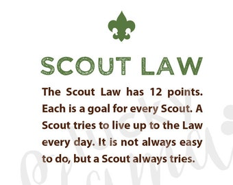 photo about Boy Scout Law Printable named Boy scout regulation Etsy