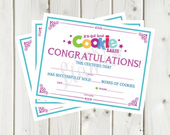 girl scout leader certificate award printable editable etsy