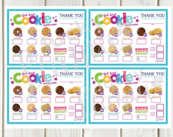 Lbb Mini Girl Scout Cookie Order Form Priced At All 5 Etsy