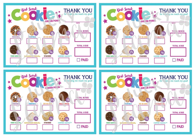 picture about Girl Scout Cookie Order Form Printable identified as LBB Mini Female Scout Cookie Get Kind - Printable