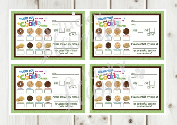 It is a picture of Girl Scout Cookie Order Forms Printable intended for lbb