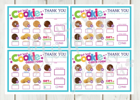 It is an image of Girl Scout Cookie Order Forms Printable in goal getter order