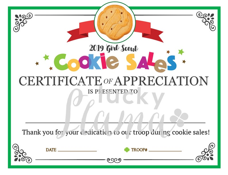 graphic regarding Girl Scout Certificates Printable Free known as Woman Scout Cookie Mother Printable Certification - Editable Prompt Obtain