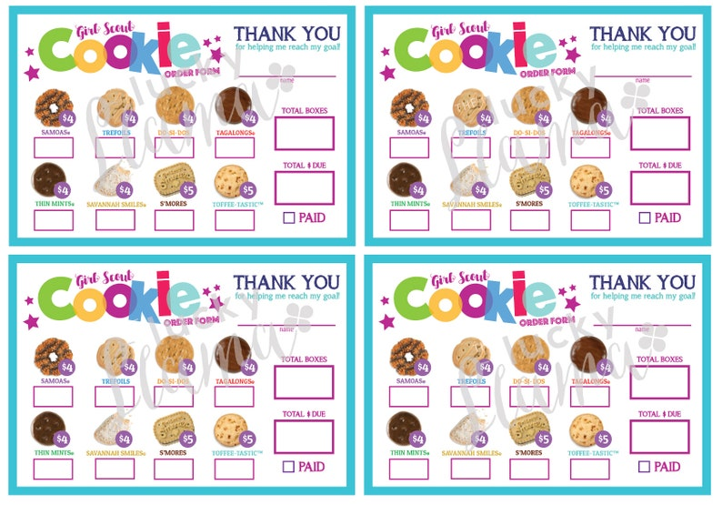 graphic about Girl Scout Cookie Order Forms Printable known as LBB Mini Lady Scout Cookie Buy Type - Printable