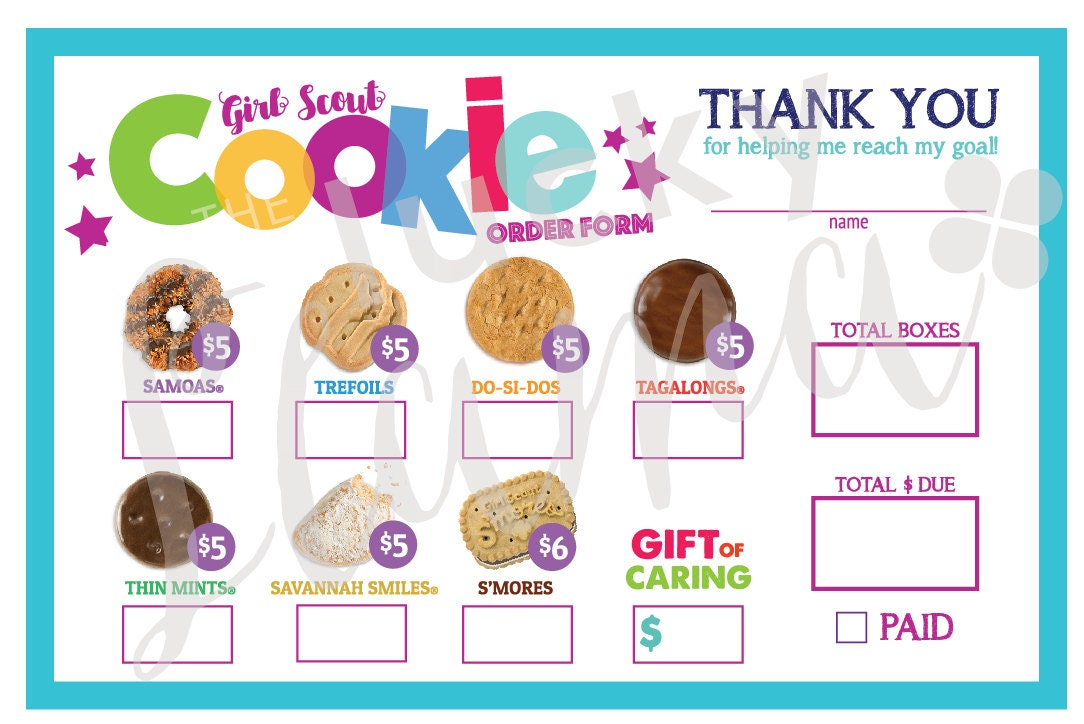 photo about Girl Scout Cookie Order Forms Printable identify LBB Female Scout Cookie Buy Style - Printable