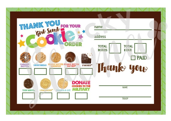 ABC Mini Scout Cookie Order Form with Military Option - Printable Scout Cookies Order Form Pdf on pa girl scout cookie form, crazy about cookies order form, printable girl scout cookie form, girl scout cookie pick up form, girl scouts cookie permission form, scout permission slips, girl scout cookie receipt form, girl scout order form,