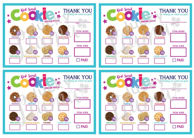 picture relating to Girl Scout Cookies Order Form Printable known as LBB Mini Lady Scout Cookie Obtain Sort - Printable