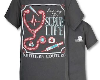 c61bc5a9fa0 SC Classic Scrub Life - Charcoal..T-Shirt - Adult - Scrub Life - Tee Shirt  - Scrub Shirt -- FAST SHIPPING.