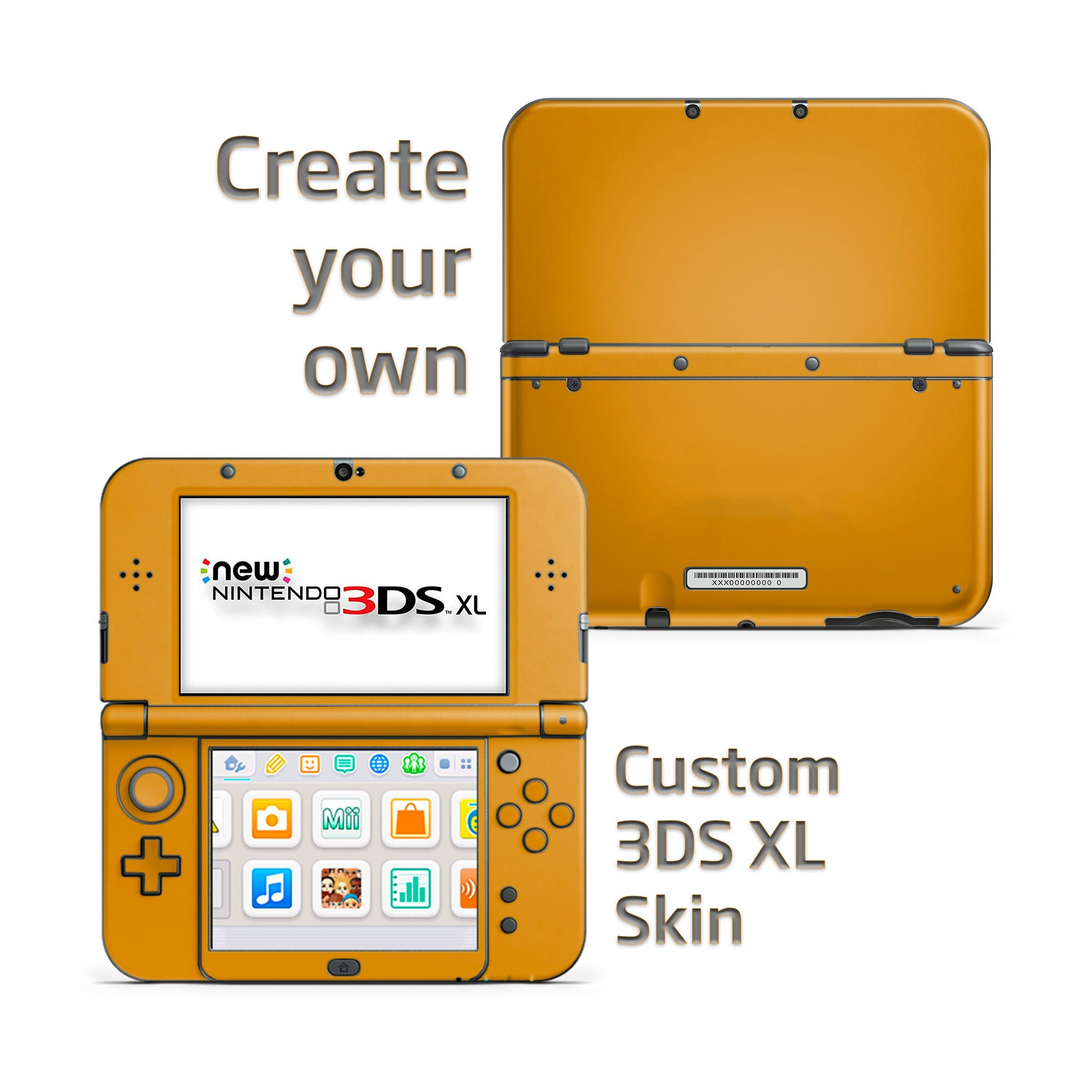 Create Your Own Nintendo New 3ds Xl Skins Custom 3ds Skin Etsy