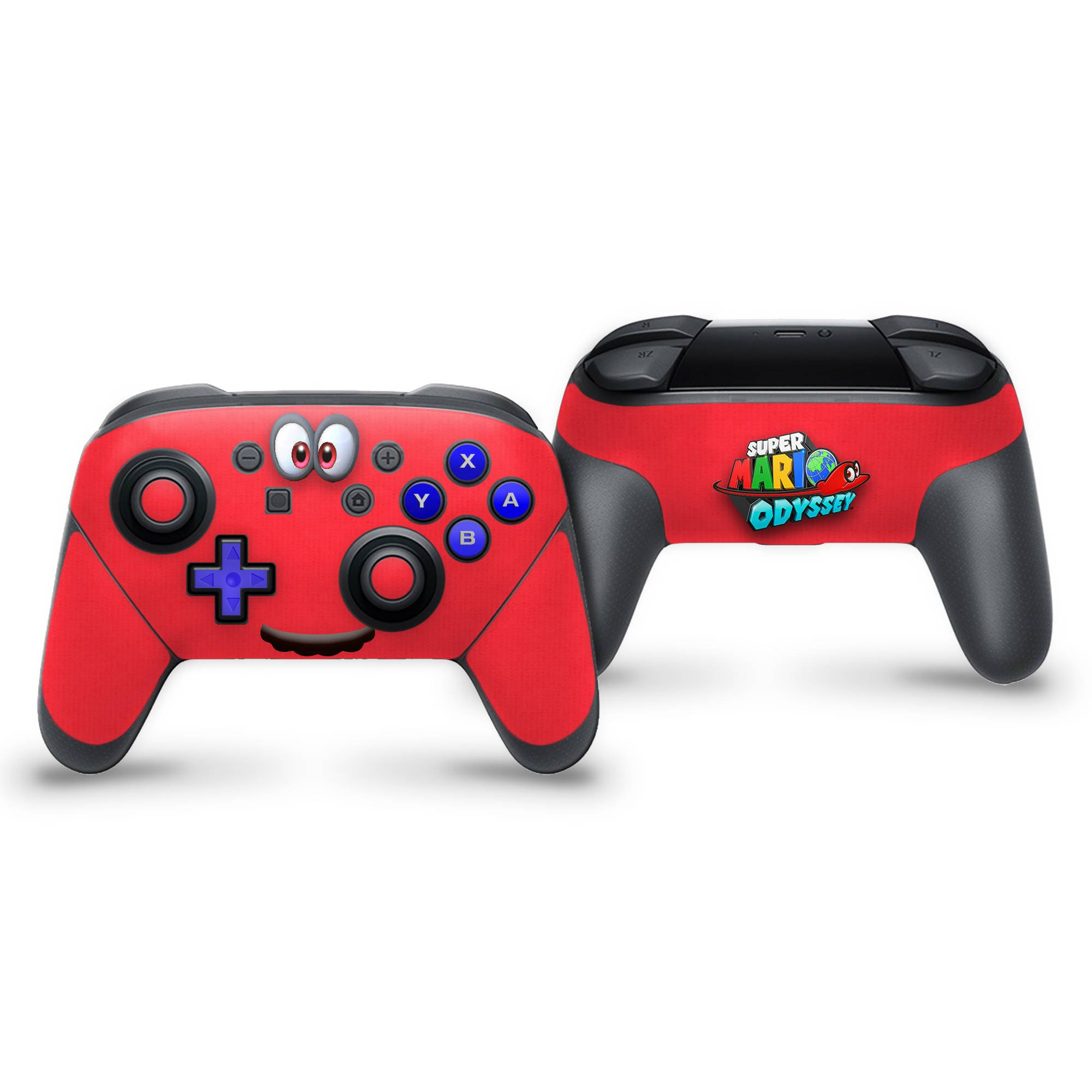 Switch Pro Controller Skin - Super Mario Odyssey Cappy Inspired Controller