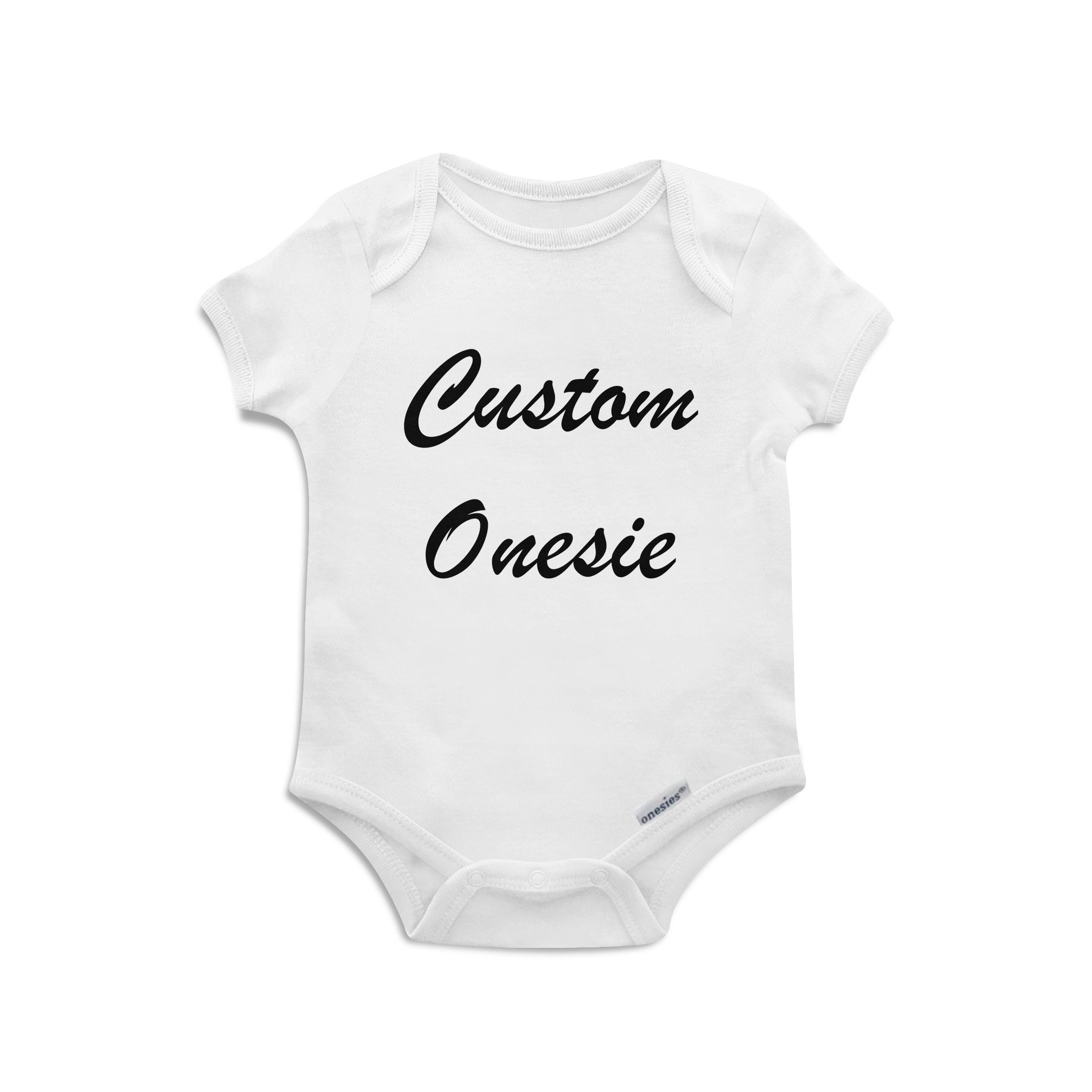 b41e0004ccbdf Custom Baby Onesie | Create your own - Multiple Bodysuit Colour Options