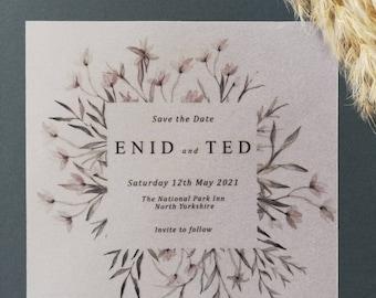 Printable Wedding Stationery Mabel Save the Date Personalised Digital PDF