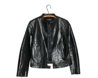 218b6c8ea Leather jacket women | Etsy