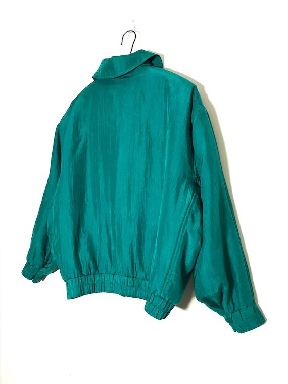 vintage silk jacket | vintage silk bomber | green… - image 6