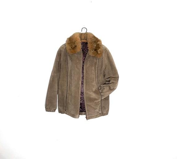 vintage suede jacket | suede bomber jacket | suede