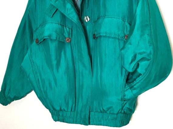 vintage silk jacket | vintage silk bomber | green… - image 4