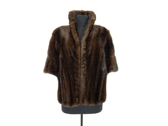 Vintage Dark brown fur stole | real fur stole | fu
