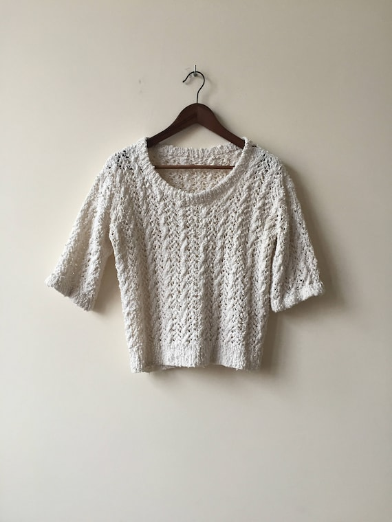 vintage sweater | cropped sweater | crop top | vin