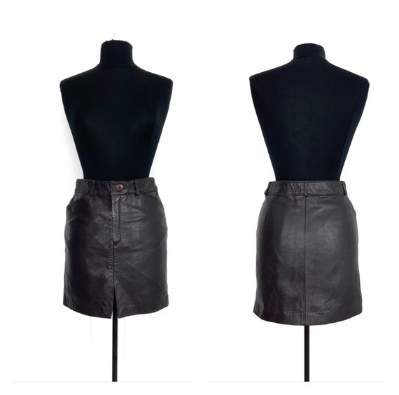 vintage leather mini skirt | leather miniskirt | v