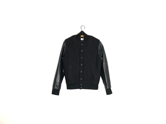 american apparel jacket   letterman jacket   leath
