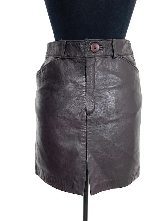 vintage leather mini skirt   leather miniskirt   … - image 10