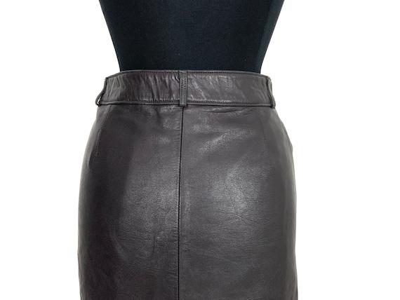 vintage leather mini skirt   leather miniskirt   … - image 7