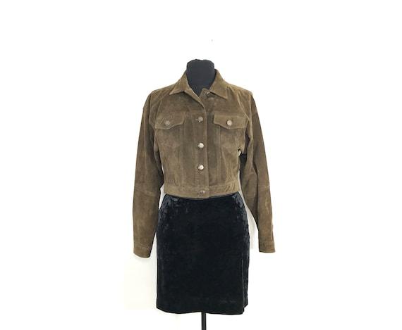 vintage suede jacket | suede cropped jacket | sued