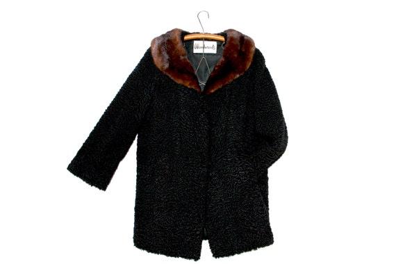 vintage fur coat / vintage lamb coat / persian lam