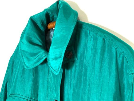 vintage silk jacket | vintage silk bomber | green… - image 9