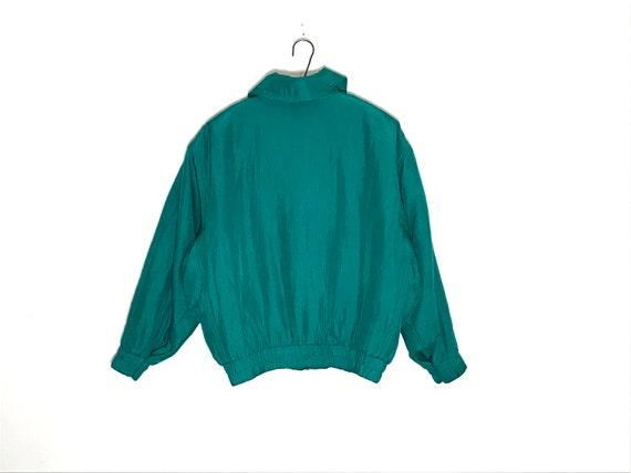 vintage silk jacket | vintage silk bomber | green… - image 5