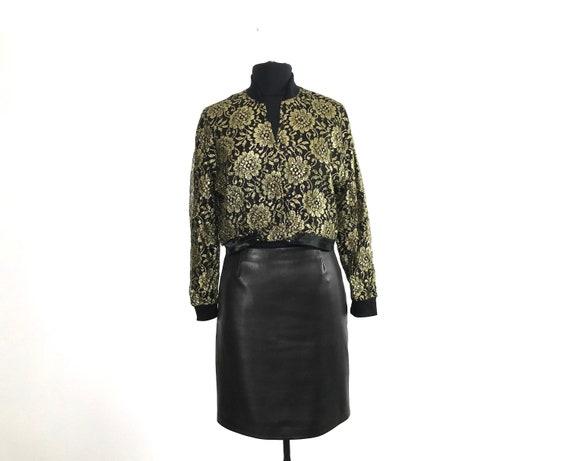 vintage glam top | gold pattern jacket | vintage c