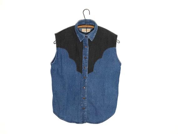 vintage denim vest | vintage denim shirt | denim s