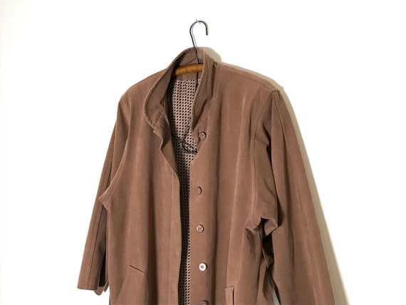 pink trench coat   dusty rose long jacket   sprin… - image 10