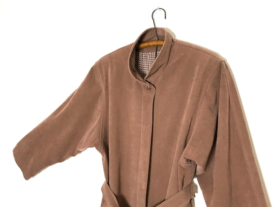 pink trench coat   dusty rose long jacket   sprin… - image 9