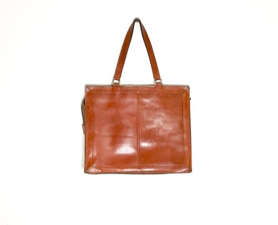 vintage leather briefcase / vintage leather messen