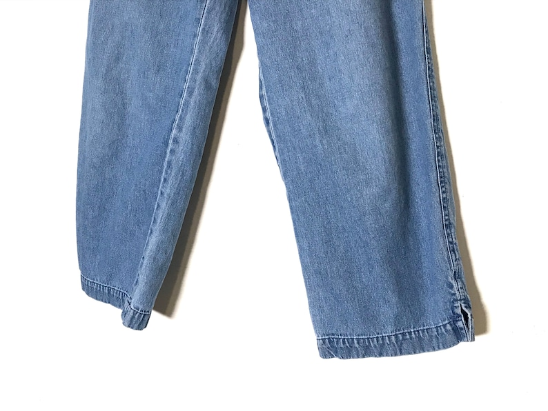 high waisted wide leg trousers vintage jean pants high wasted pants cropped denim trousers high waisted cropped denim pants