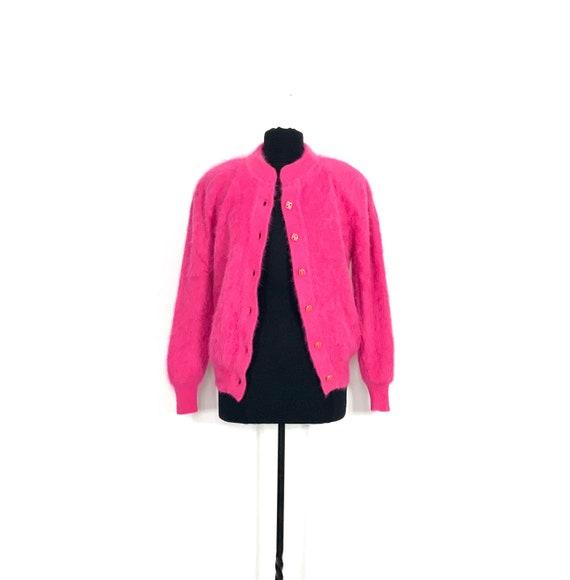 vintage angora jacket | pink angora jacket small |