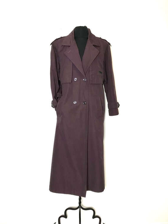 vintage trench coat size 4 | plum trench coat size