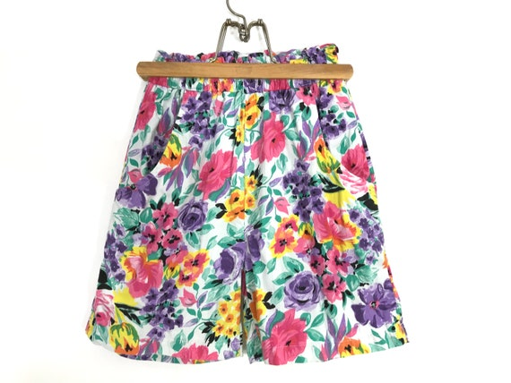 vintage high waisted shorts | vintage floral short