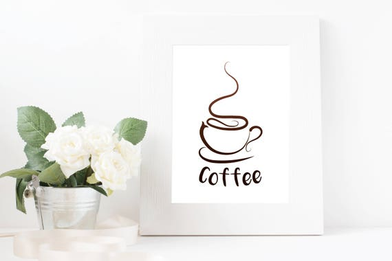 picture regarding Coffee Cup Printable referred to as Espresso Cup Printable Wall Artwork Instantaneous Down load