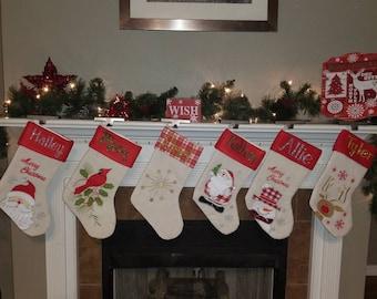 Personalized Christmas Stockings, Christmas Stockings, Stockings, Christmas, Stocking