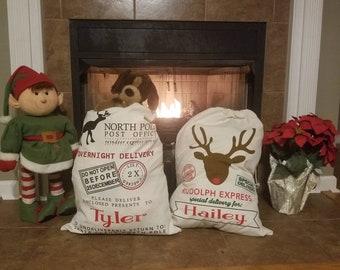 Santa Sack, Santa Toy Bag, Toy Bag, Gift Bag, Gift Wrap, Large Gift Bag, Personalized Santa Sack